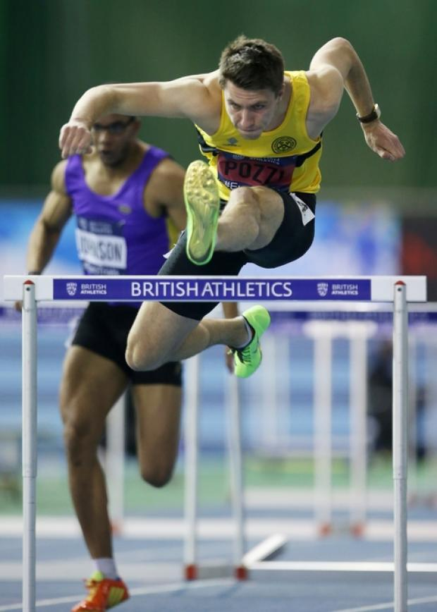 Sweden bound: Andrew Pozzi will be racing in the 60-metre hurdles at the European Indoor Championships in Gothenburg.