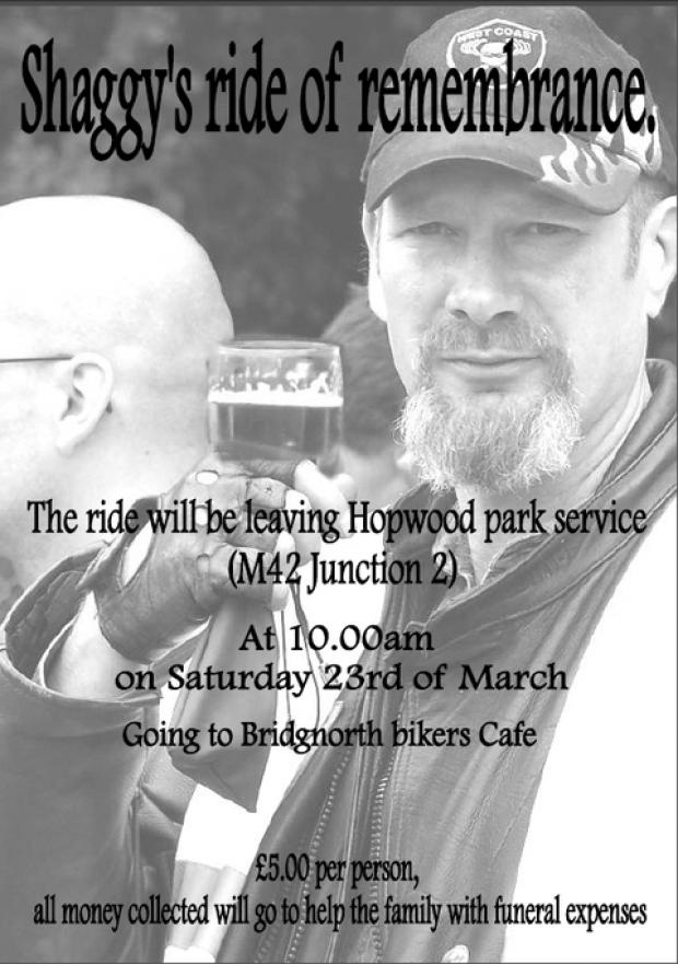 A ride in memory of Nigel Shakespeare