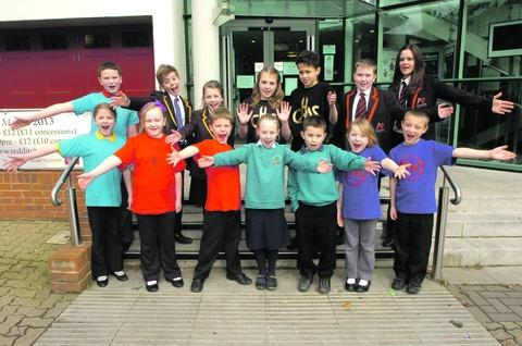 RAISING THE ROOF: Redditch pupils taking part in Arrow Vale Pyramid Choir Sings the 70s and 80s.