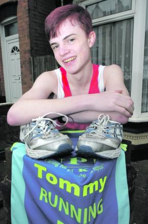 Marathon man: Thomas Fletcher is running two marathons within days of each other. Buy this photo RMM131391a