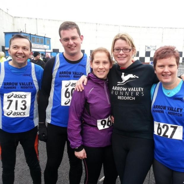 Not bard at all: Steve Fitter, Rachel Winch, David King and Barbara Moran were in action for Arrow Valley Runners in Stratford.