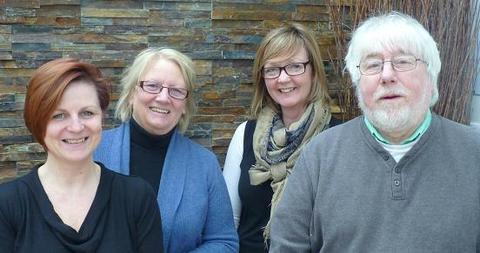 Studley artists: (from left) Dawn Harris, Joanne Ellson, Maureen Rickhards and Chris Holt.