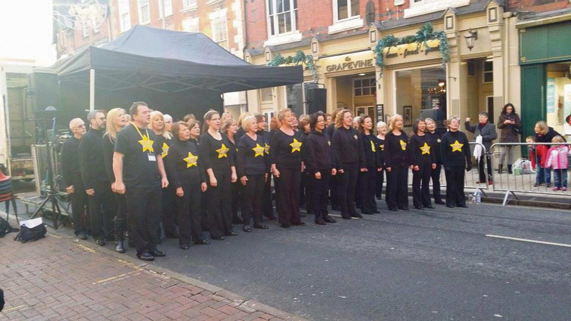 The Rock Choir members will be playing their part in a world record attempt. SP