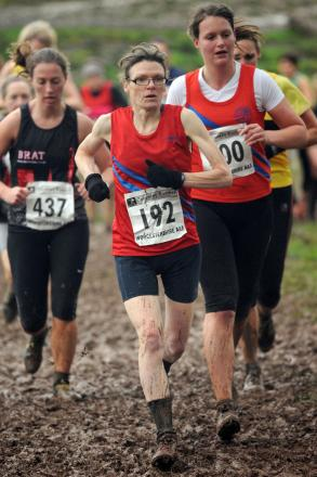 Going the distance: Bromsgrove and Redditch AC's Charlotte Ball in action at the County Championships in Halesowen at the weekend. Picture: EMMA TRIMBLE