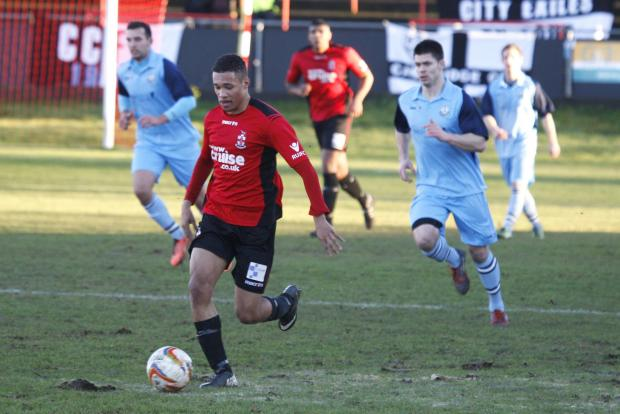 Jermaine Hylton bagged a brace as Redditch defeated Evesham to lift the Worcestershire Senior Cup.