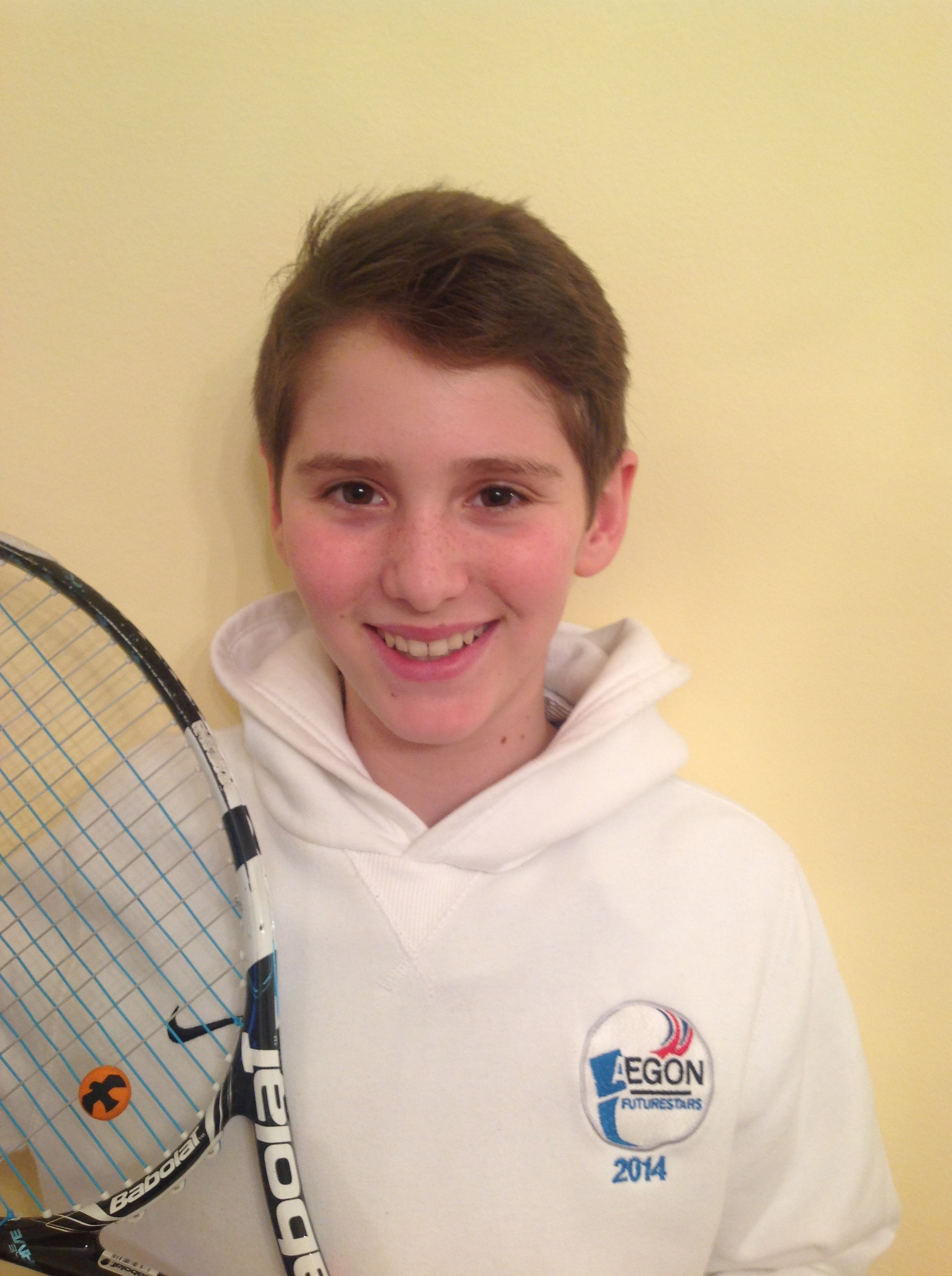 Tipped for the top: HDA Tennis Club member Alex Maggs, 12, has been selected for the LTA's Future Stars course.
