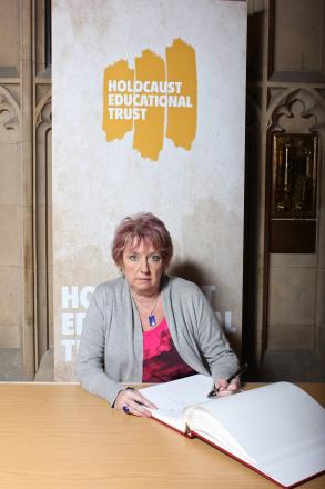 Redditch MP karen Lumley, who signed the Holocaust Educational Trust's Book of Commitment in the House of Commons.