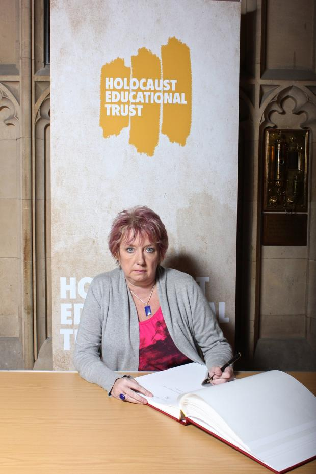 Redditch Advertiser: Redditch MP karen Lumley, who signed the Holocaust Educational Trust's Book of Commitment in the House of Commons.