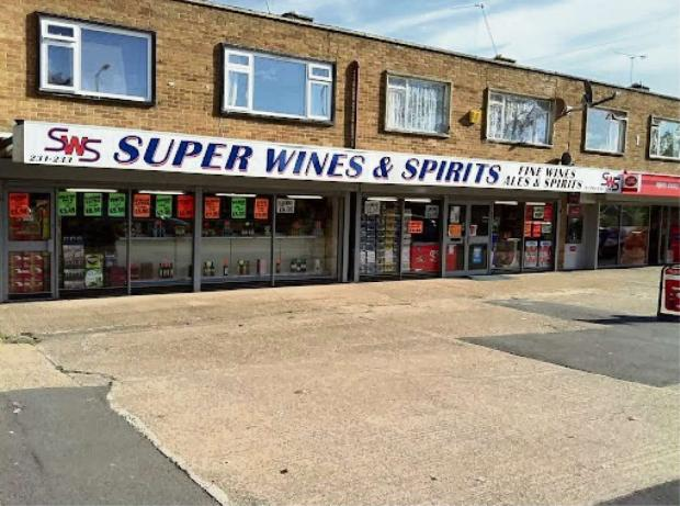 The Rugby branch of Super Wines and Spirits. SP