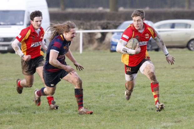 A Kings Norton player goes on the attack. Picture: CRAIG ROSS