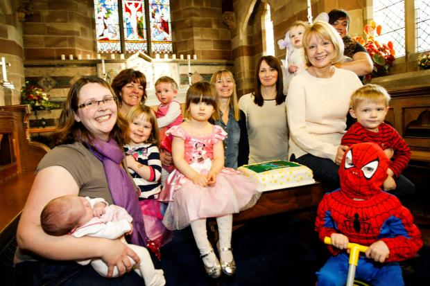 First birthday of the Bumps, Babes and Toddlers group at St Philips Church, Webheath. Buy this photo: RCR041402_01 at redditchadvertiser.co.uk/pictures or call 01527 889027.