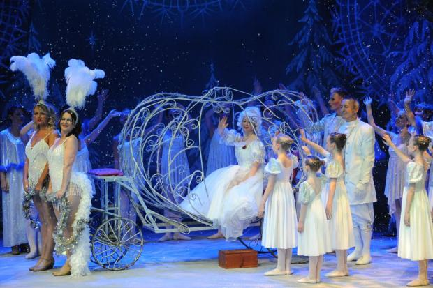 Youngsters from Acorns Children's Hospice enjoyed Cinderella at the Swan Theatre in Worcester.