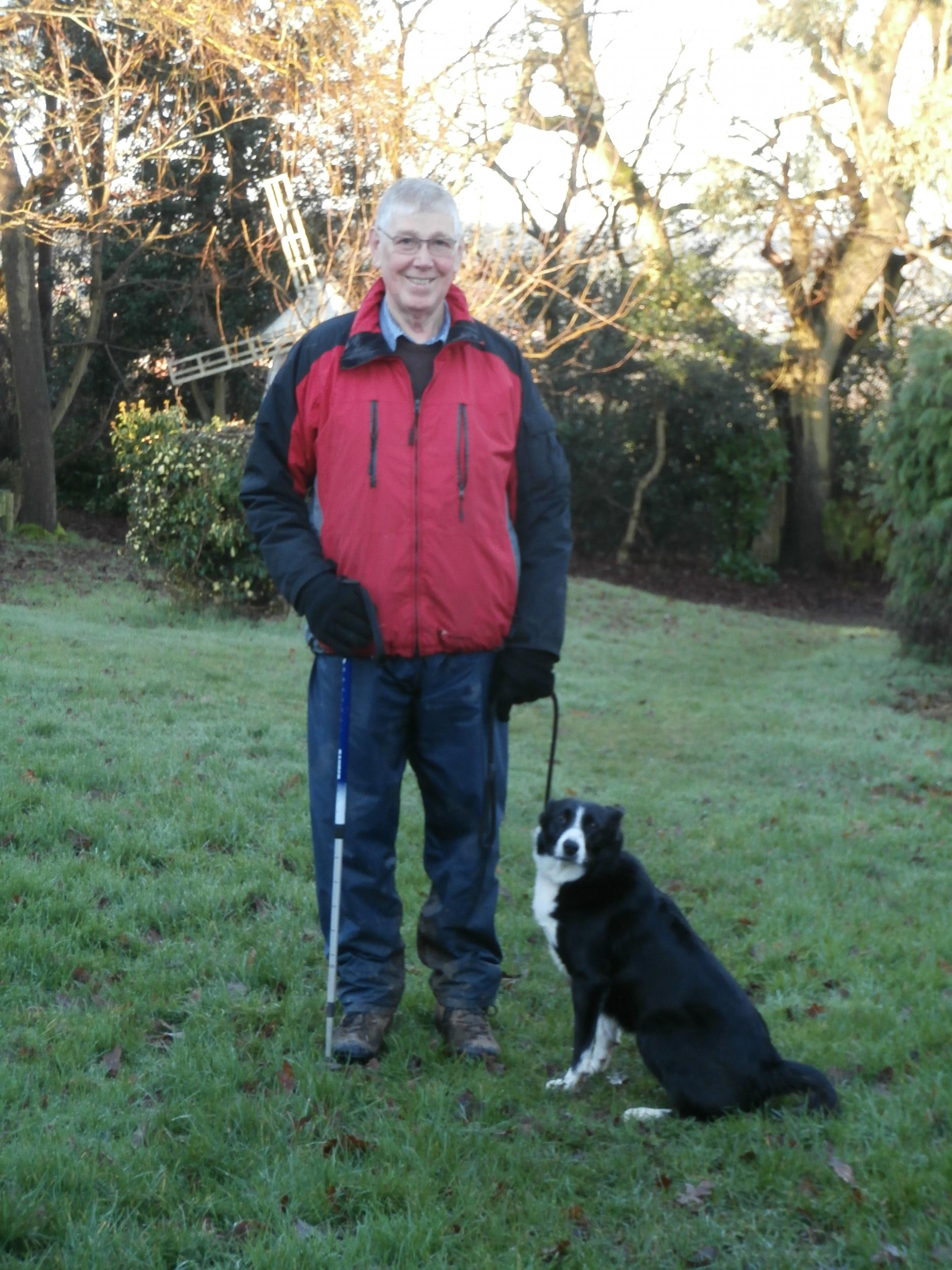 James McManus out walking with his own dog Dizzy. SP