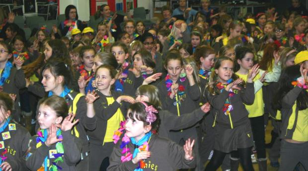 Youngsters from Tardebigge Brownies joined packs from throughout Bromsgrove to celebrate the 100th birthday of the organisation. SP