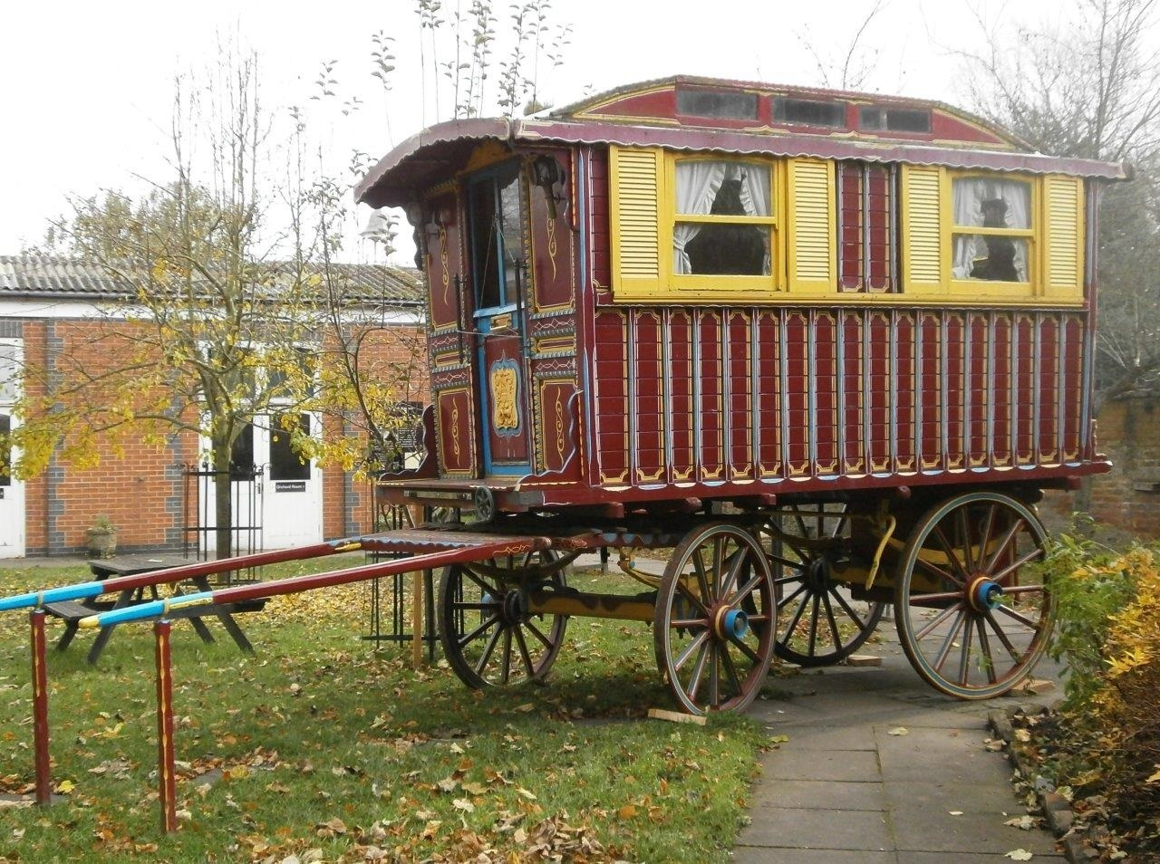 The caravan, is now in its new home at Hartlebury Castle. SP