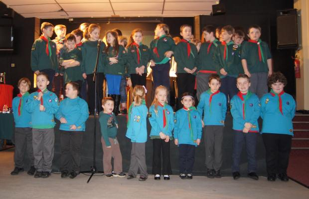 Members of 1st Matchborough Scout group put on their first ever gang show. SP