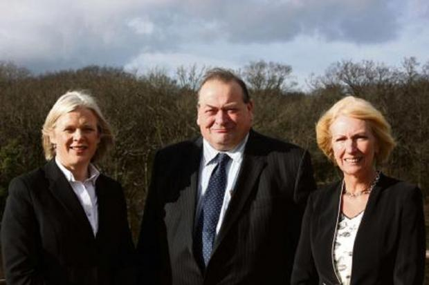 NEW JOB: New chief executive in waiting Clare Marchant, left, with leader Councillor Adrian Hardman, middle and Trish Haines, right