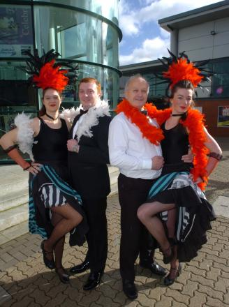 Roz Chalk, Alan Hastings, Stewart Vick and Georgie Roberts from Astwood Bank Operatic Society