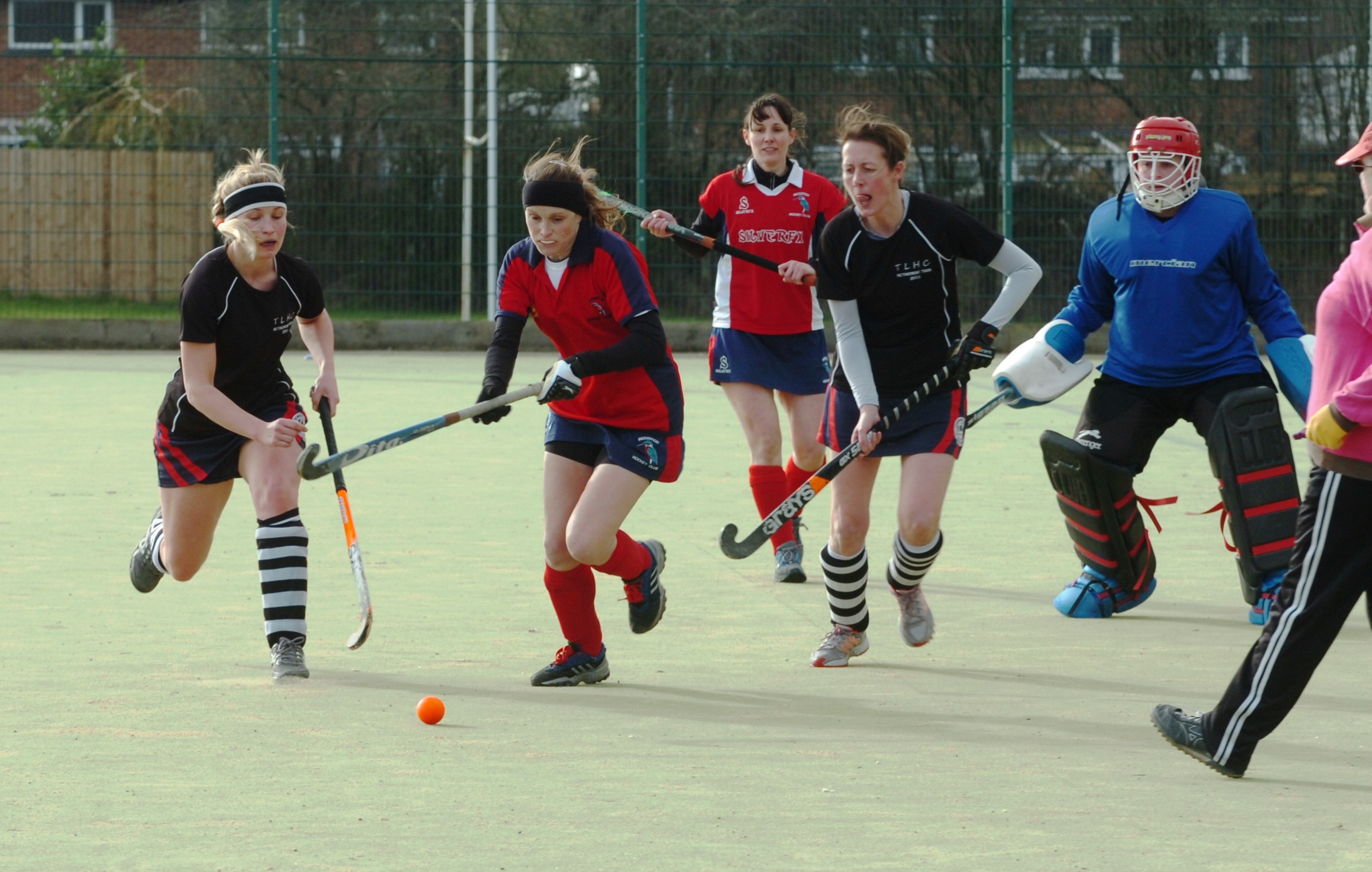 Action from Redditch Ladies' clash with Tenbury. Picture: MARIE MYERS