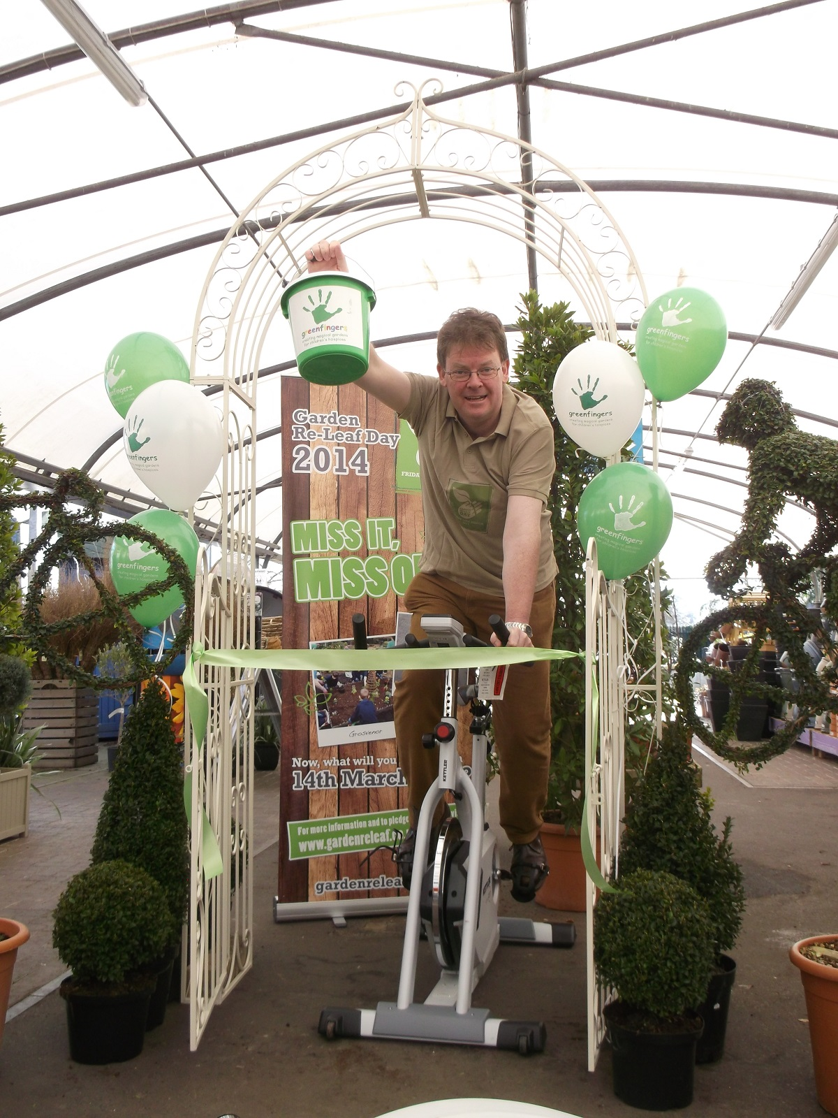 CEO and Garden Re-Leaf Day's founder, Boyd Douglas-Davies, on his bike. SP