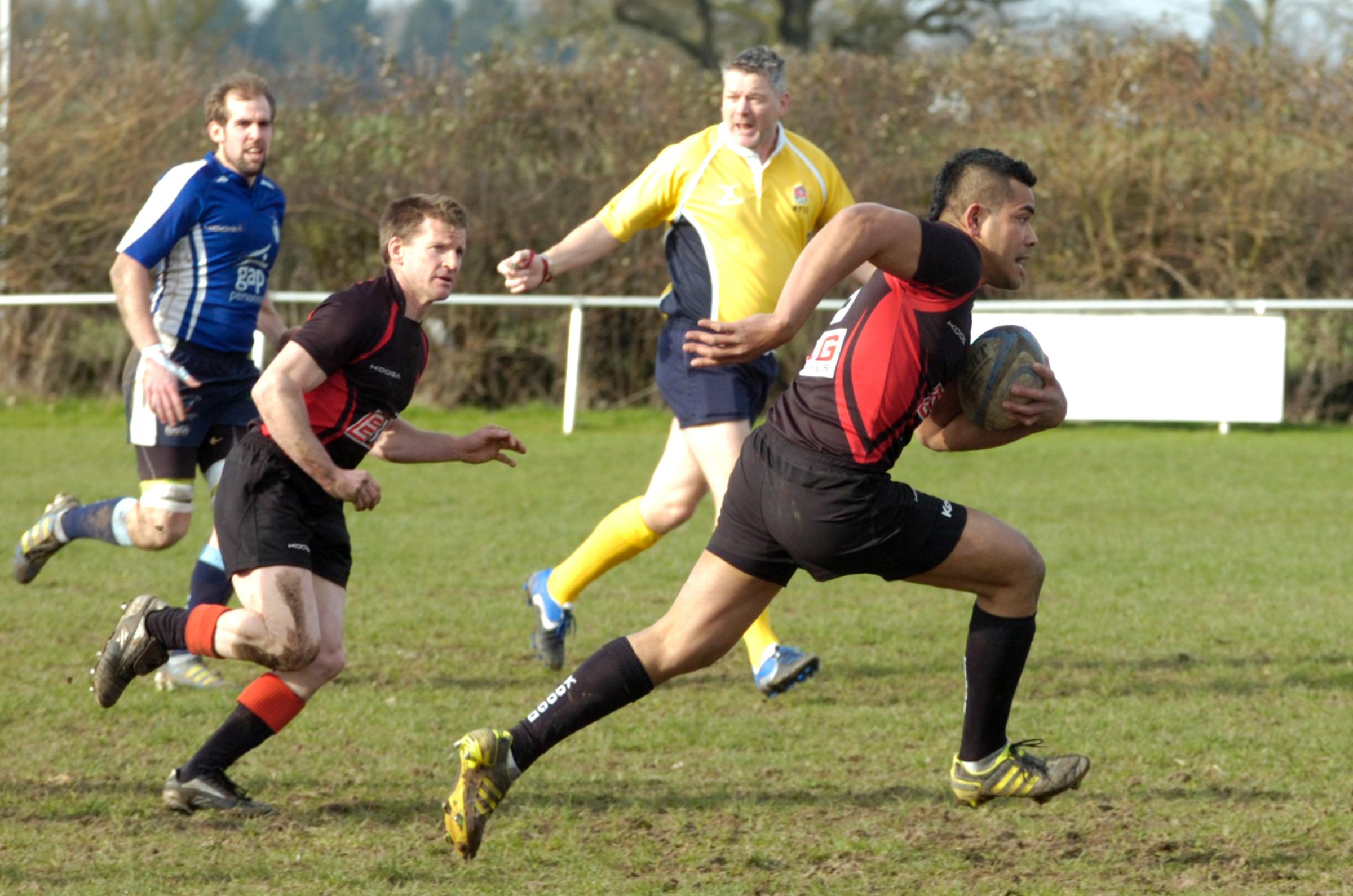 Action from Alcester versus Redditch. Picture: MARIE MYERS