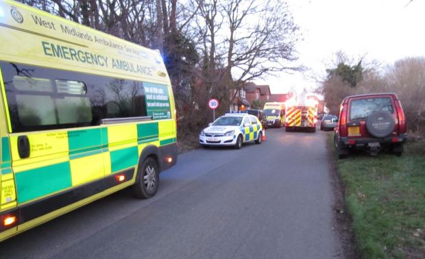 There was a heavy emergency services presence at the incident