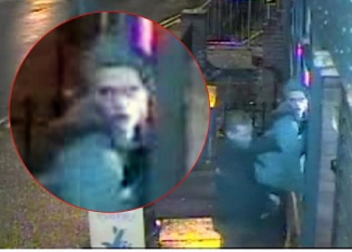 A CCTV image of two men police would like to talk to