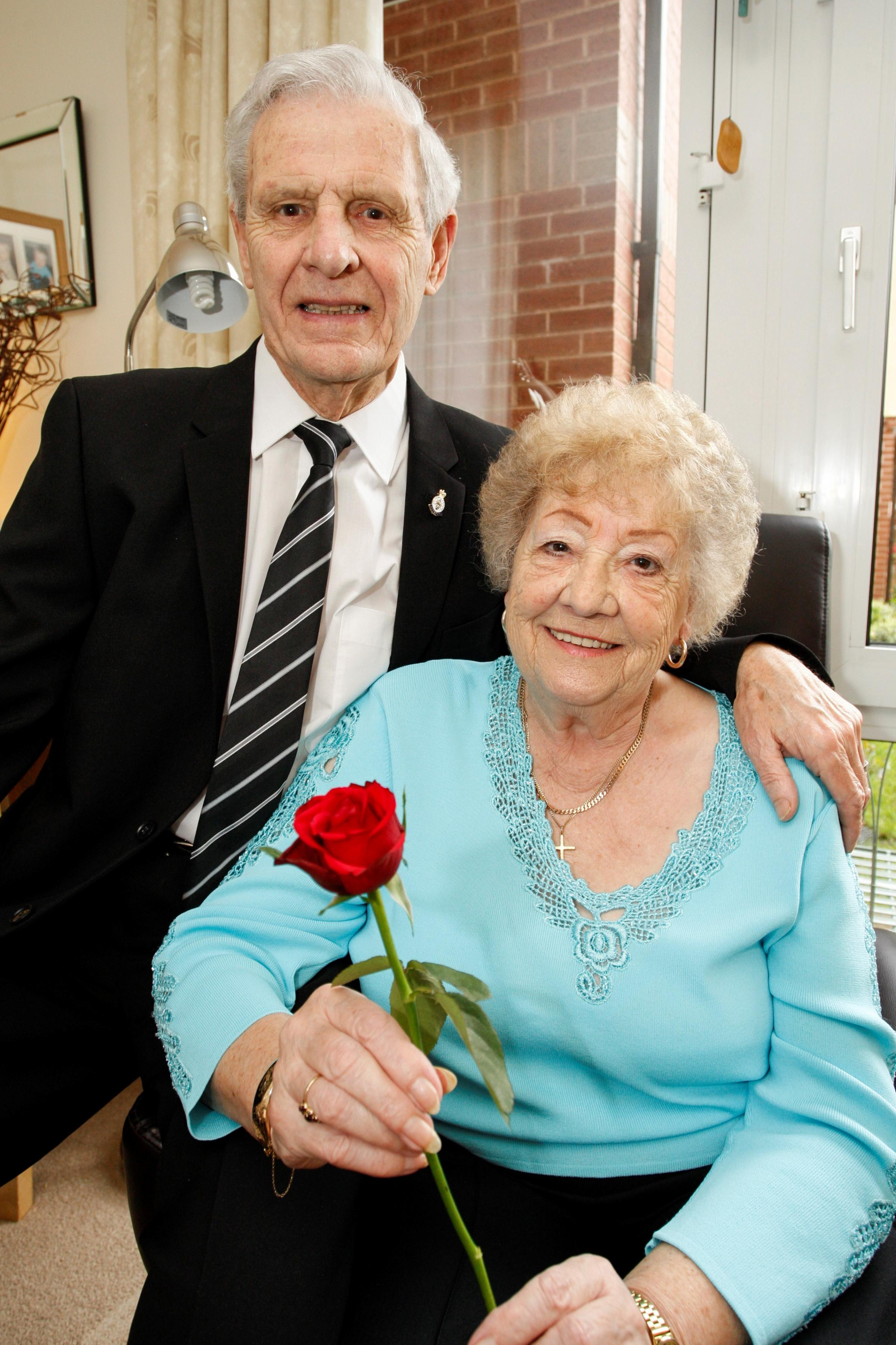Ted and Joan Morgan celebrating their 60th wedding anniversary. Buy this photo Ref. RC141401_01 at redditchadvertiser.co.uk/pictures or call 01527 889027.