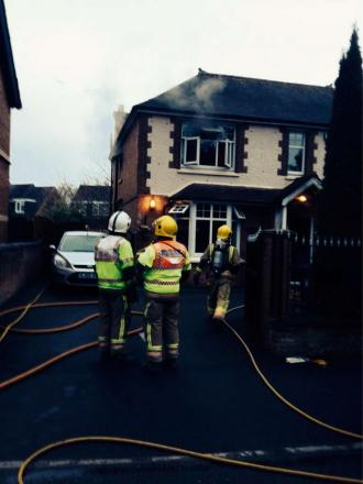 A house fire in Evesham Road, Alcester