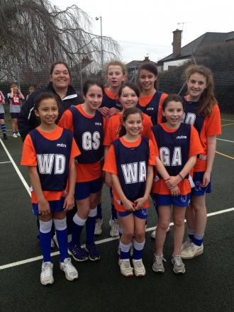 St Bede's Year seven netball team of Alice Rogers, Carissa Palmeri, Isabelle Rooke, Jessie Notley, Erin Hitchen, Olivia Cole, Romaya Warburton and Aoife Woodcock.