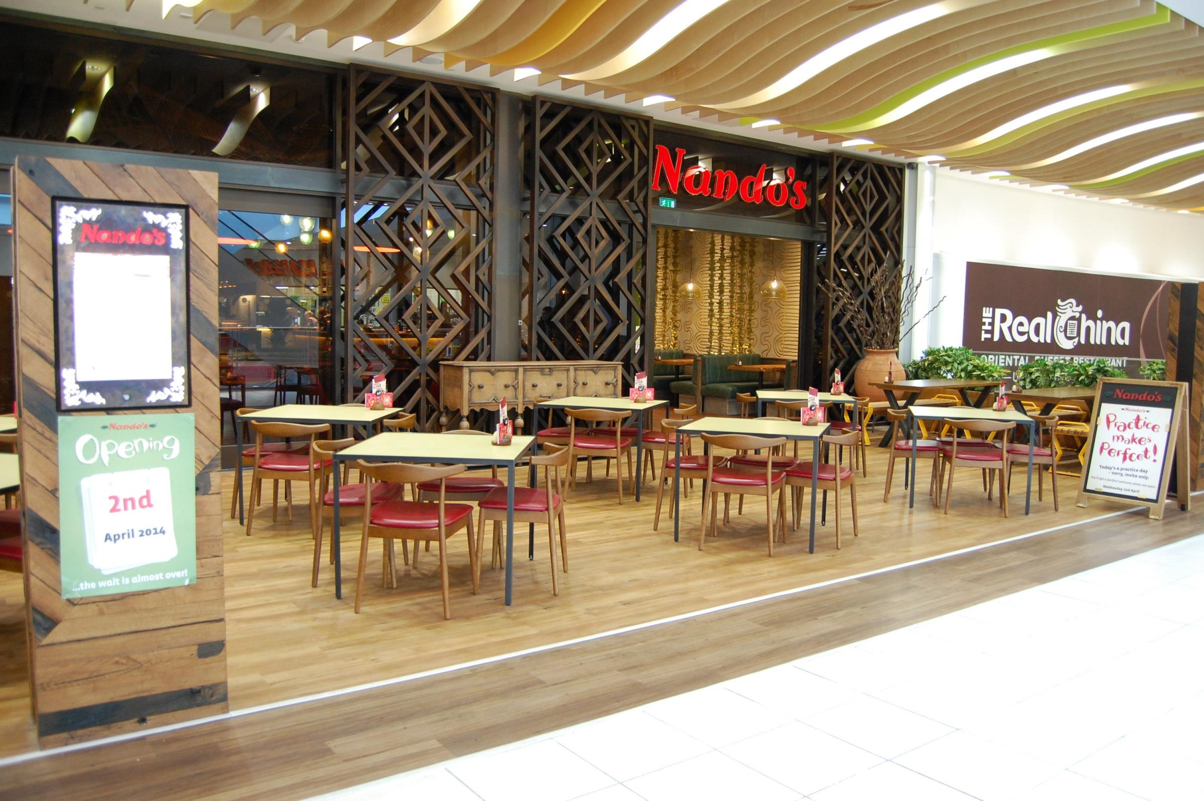 Nandos - the home of legendary Portuguese flame-grilled PERi-PERi chicken opens its doors today.