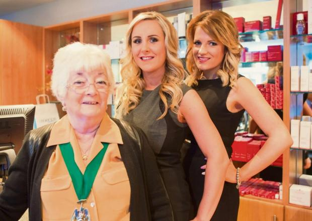 Redditch Advertiser: Legends Redditch: Councillor Pat Witherspoon with owners Stacey Tudor and Lauren Alekna