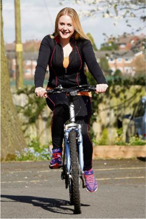Lucy Baylis, community fundraiser at the Primrose Hospice, is encouraging riders to take in a London bike ride to raise money for the charity.  Buy this photo BCR161403_01