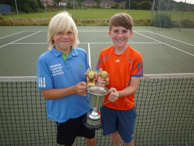 Net success: Joseph Morris and Felix Gill have maintained their 100 per cent record