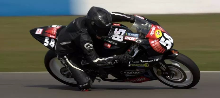Trystan Finocchiaro in action at Donnington