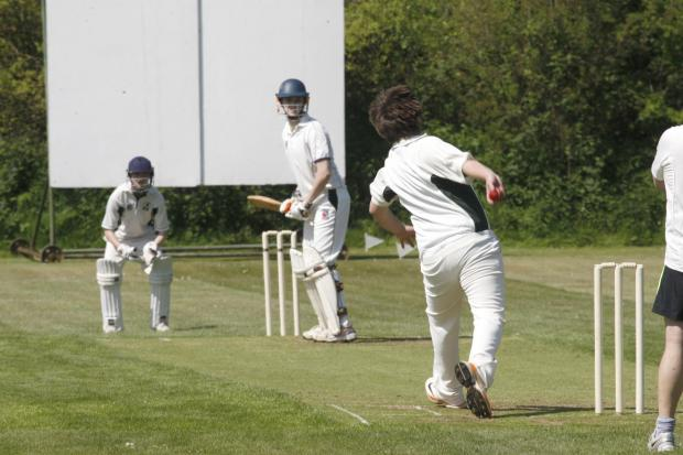 Action from Alvechurch 3rd XI's loss to Claverdon in the Cotswold Hills League Division Six. Picture: CRAIG ROSS