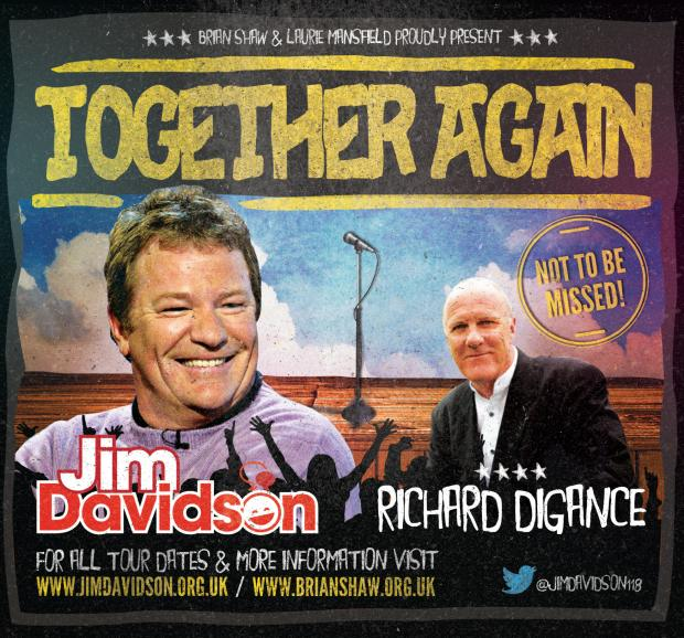 Jim Davidson will be joined by fellow TV star, BAFTA nominated comedy entertainer Richard Digance at the Palace Theatre