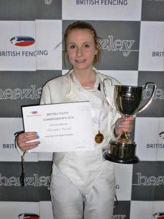 National success: Alexandra Powell clinched her age group at the British Championships in Sheffield.