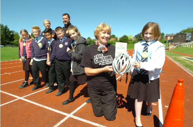 Children from Bromsgrove and Redditch schools took part in a Young Citizen's Challenge this month. Buy photo BMM221401