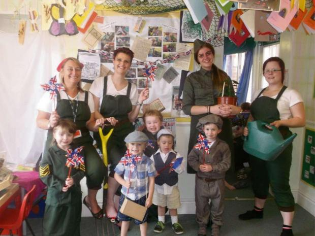 Children and staff celebrated the award during their D-Day celebrations. SP