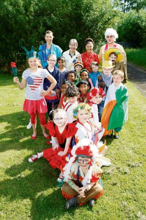 Youngsters at St Thomas More School enjoy World Culture Day. Buy this photo RCR241406_01 at redditchadvertiser.co.uk.