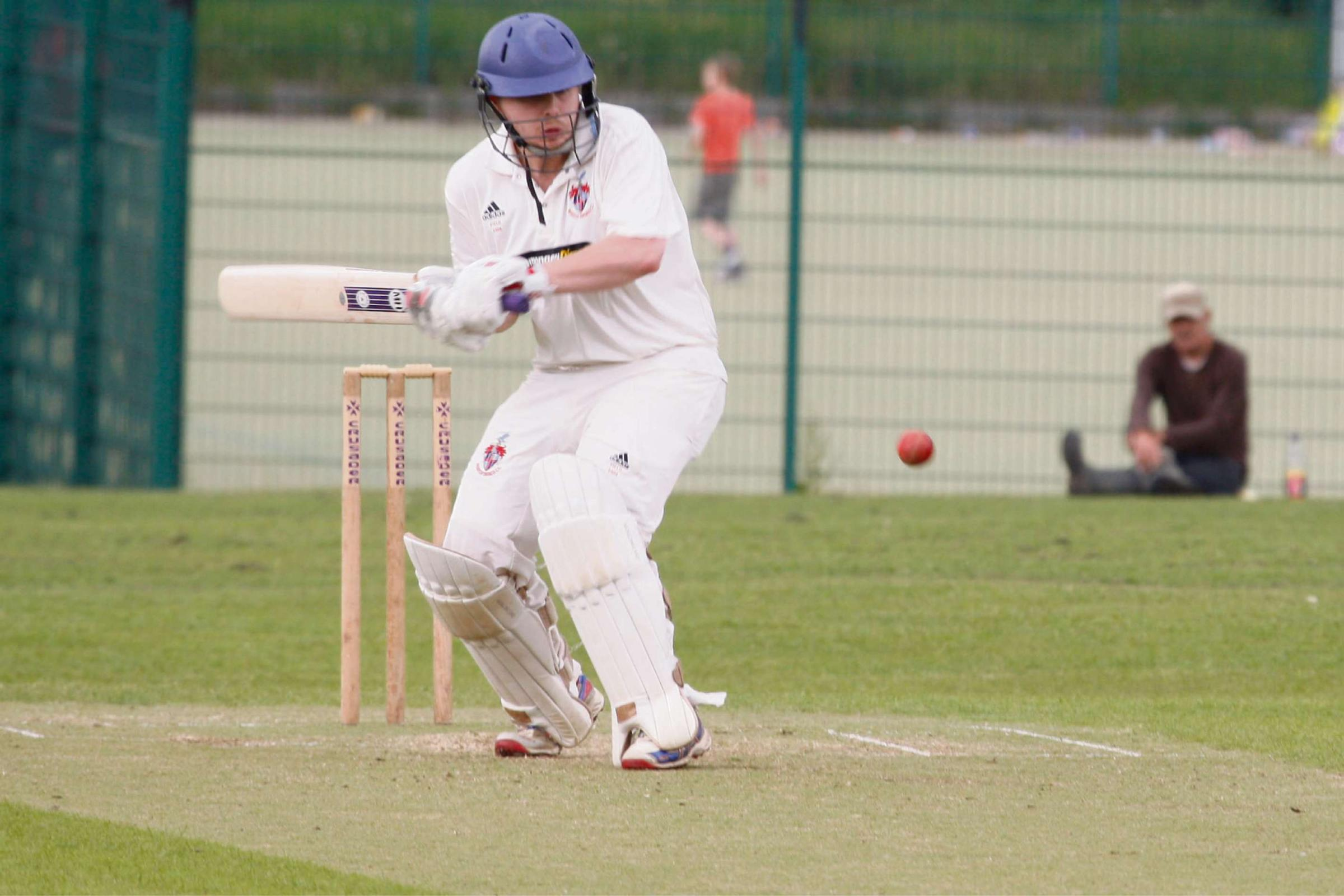 Tom Field in action for Redditch against Belbroughton. Picture: CRAIG ROSS