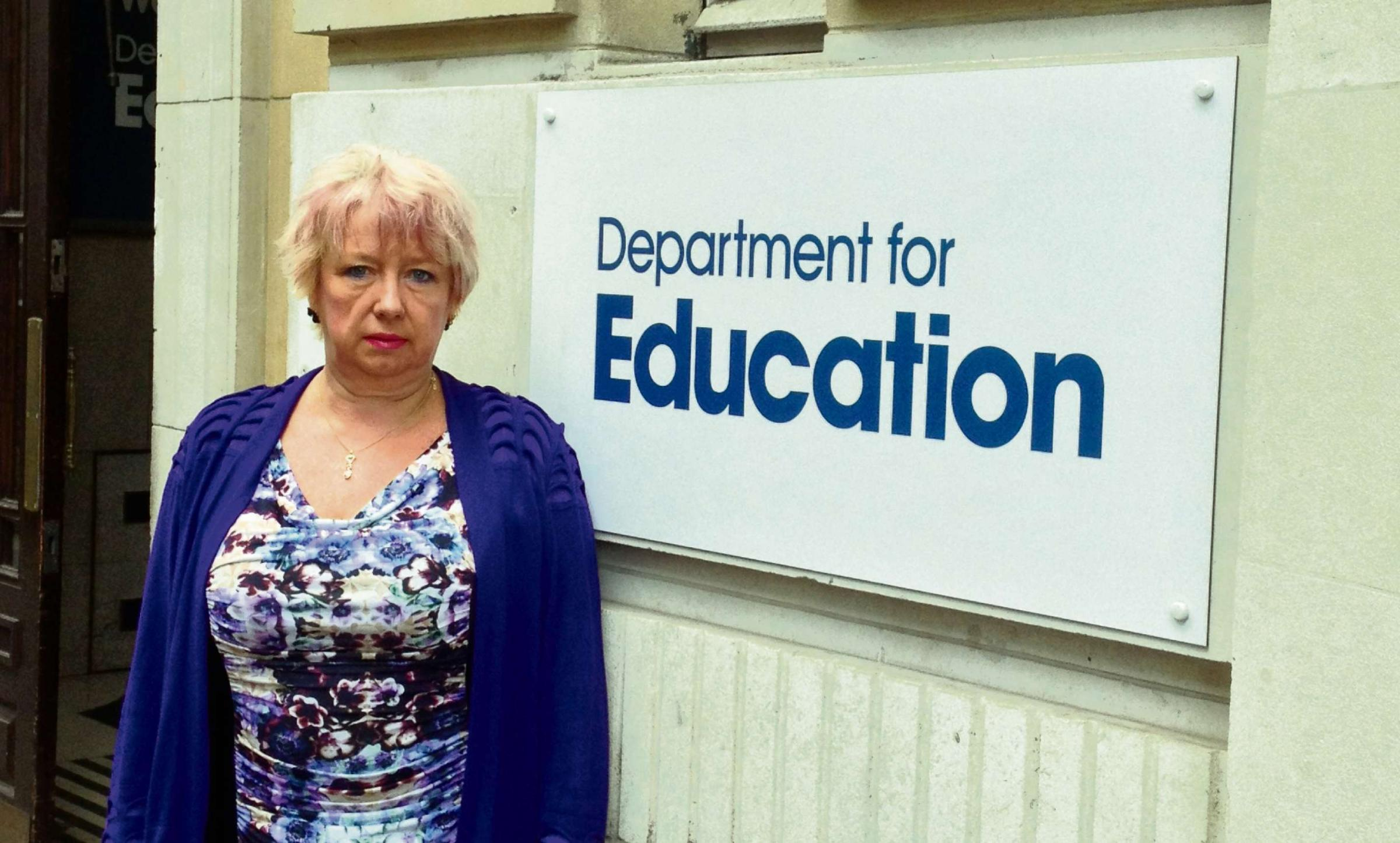 Concerns: Redditch MP Karen Lumley in Whitehall.