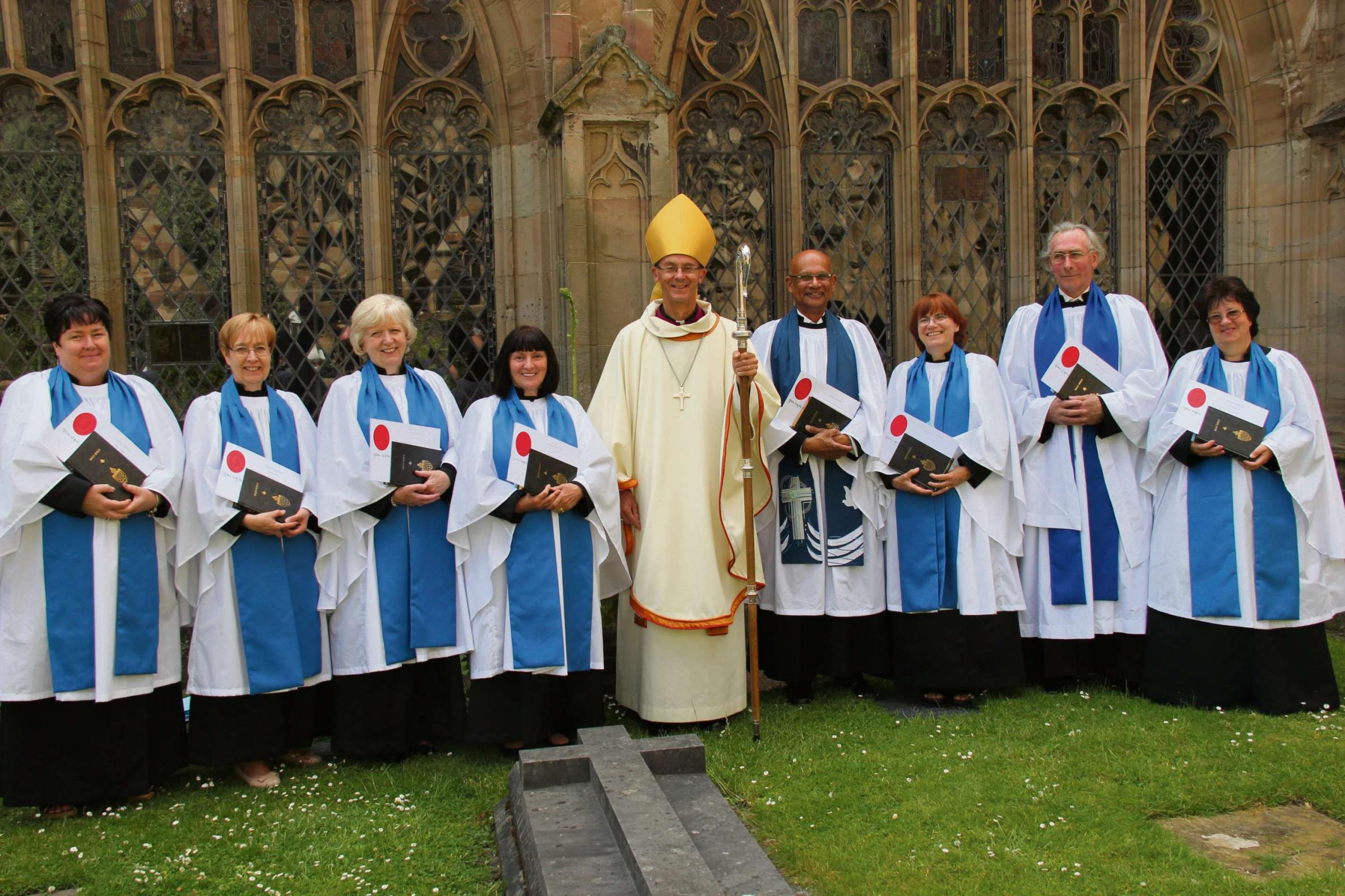 Lay ministers from across the Worcester diocese with John Inge Bishop of Worcester. SP