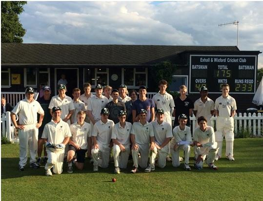 Exhall and Wixford saw a young team play a touring side from Australia.