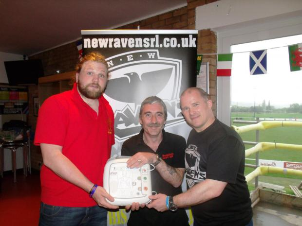 Ben Boyce from Kings Norton RUFC, Rob Underwood from Redditch Heart Safe, and Jason Spafford from N.E.W Ravens RL. SP