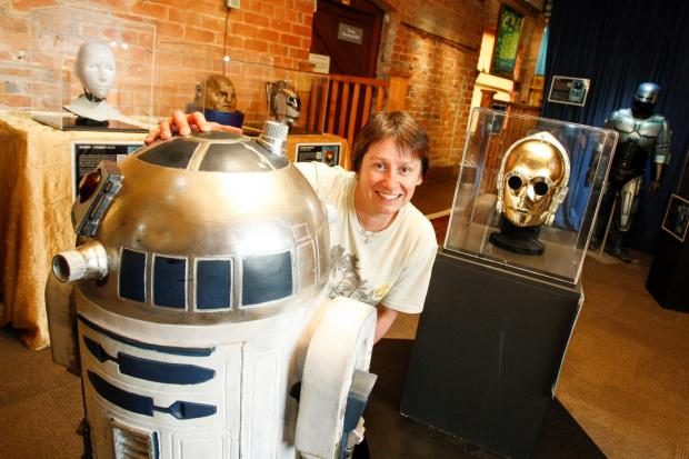 METAL MAGIC: Jo-Anne Gloger from Forge Mill Museum with R2-D2 and the head of C3PO. Buy this photo: RCR311403_01 from redditchadvertiser.co.uk/pictures