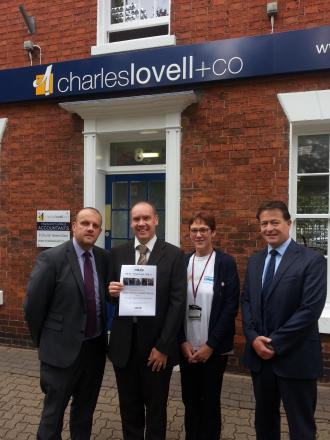 Hadleigh Burns and John Harris from Charles Lovell & Co chartered accountants, with Fiona Allen from Choose how you move, and Richard Beresford, also from the accountancy firm. SP