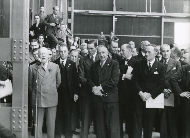 The official opening of the site, then known as High Duty Alloys, in 1939. SP