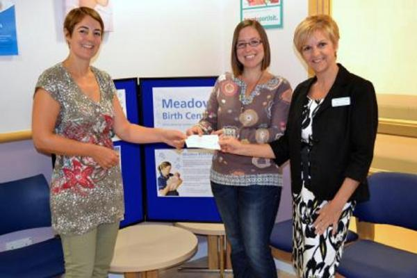 GENEROUS: Helen Hunt and Jo Lederer presenting Karen Kokoska with their donation. SP